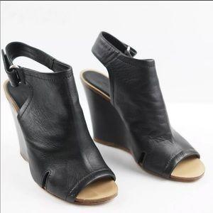 Rag and Bone Wembley Wedge Sandal Black Leather 8